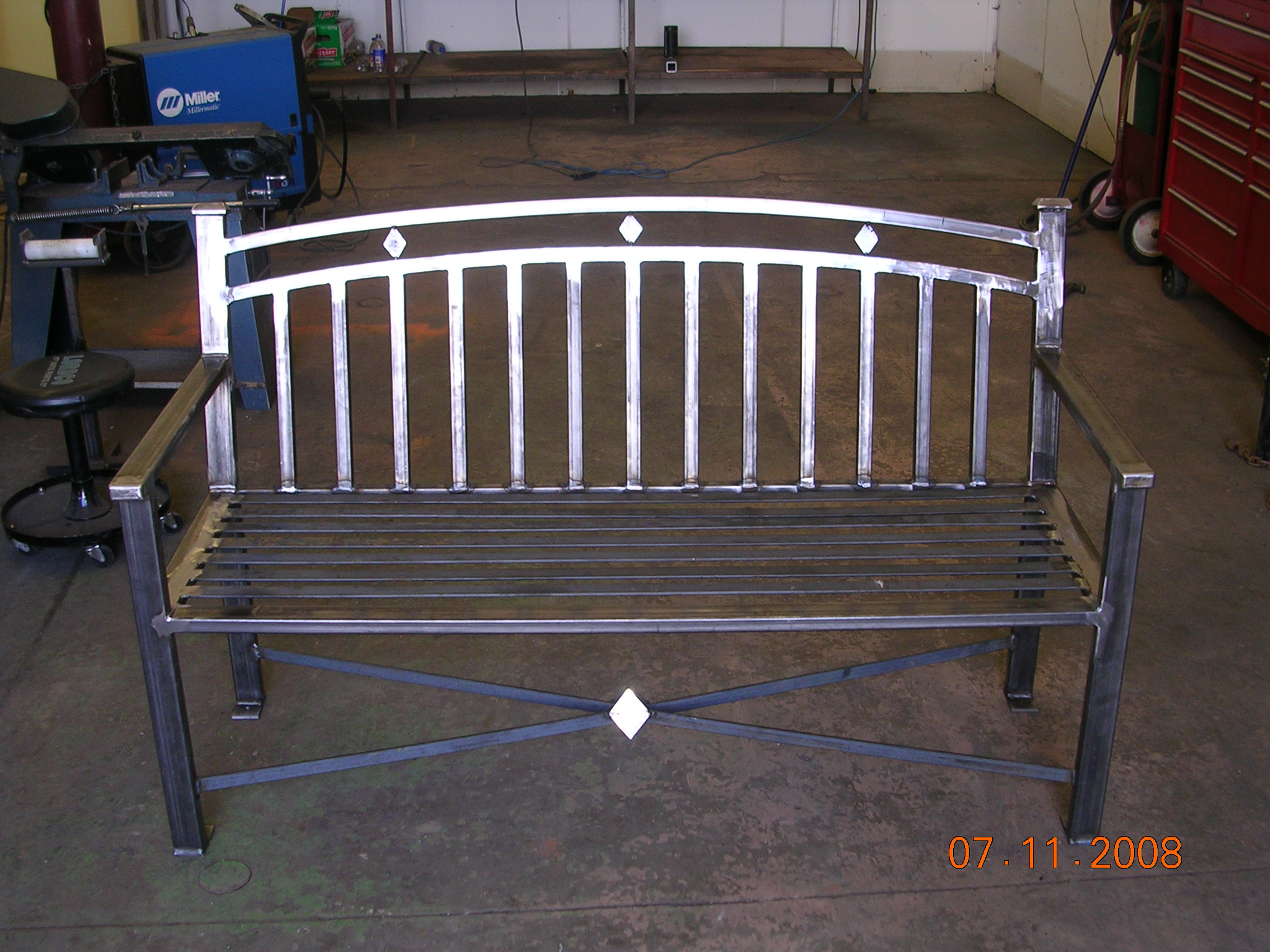 Custom fabrication Aluminum benches